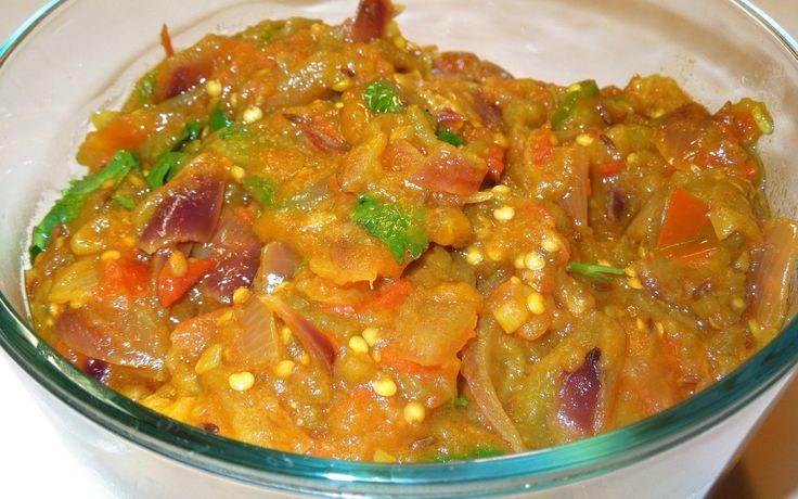 Baingan Bharta Recipe (mashed eggplant)