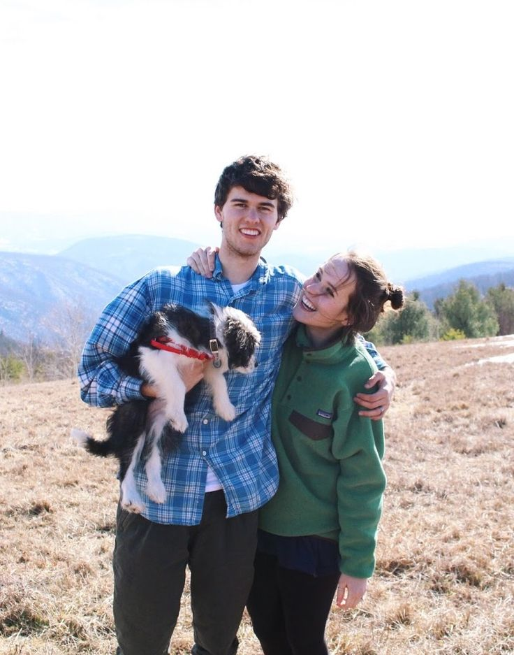 John Luke and Mary Kate and dog