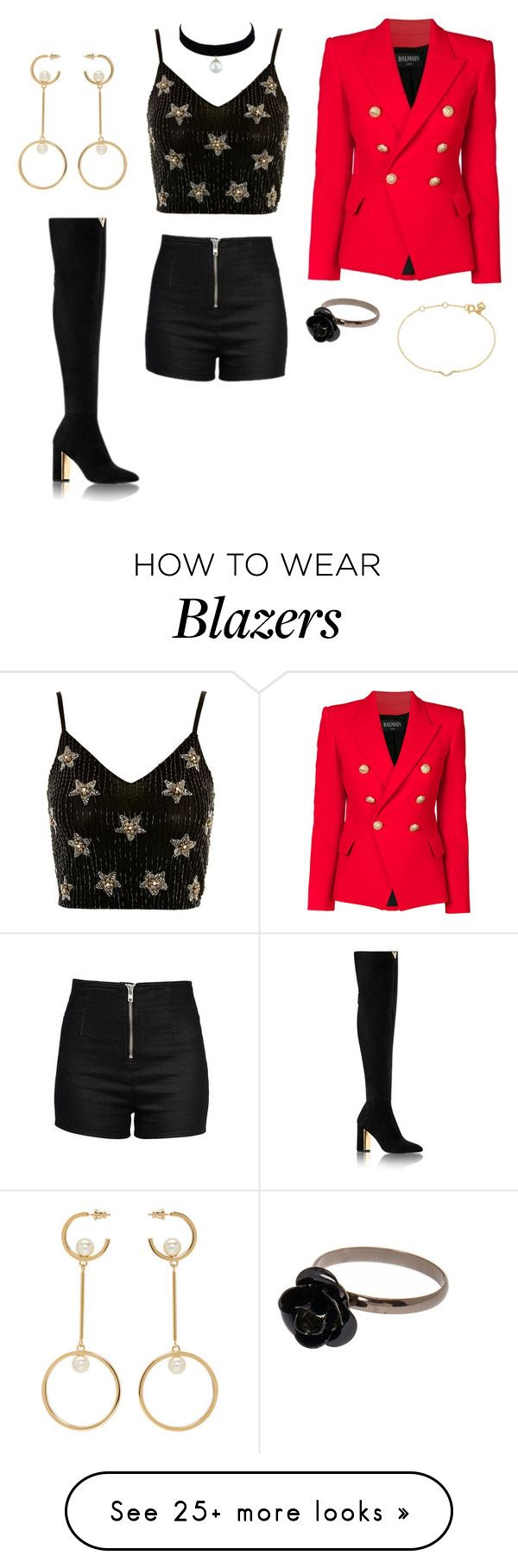 """""""RED VELVET - PEEK-A-BOO - JOY inspiration 1"""" by bhgrace on Polyvore featuring Topshop, Chloé, Balmain and Maya Magal"""