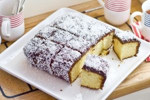 Australia Day Lamingtons. I found this very inspirational because it is a yummy, traditional dish and I'm thinking that I could make a green and yellow version,