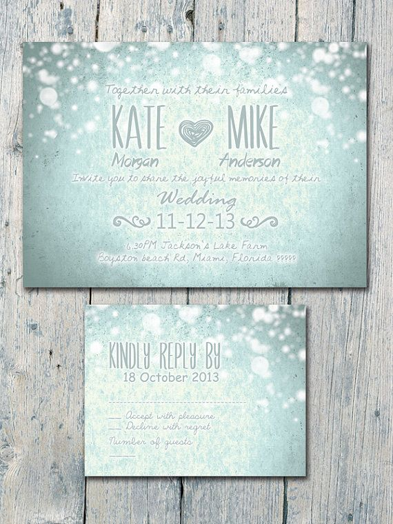 36 best winter wedding invites images on pinterest invites winter and the softly falling snow wedding invitation card by weddingsundae stopboris