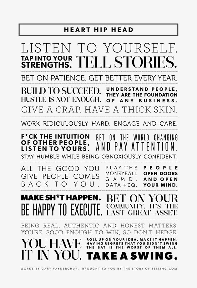 Heart Hip Head — A Manifesto For Success by Gary Vaynerchuk