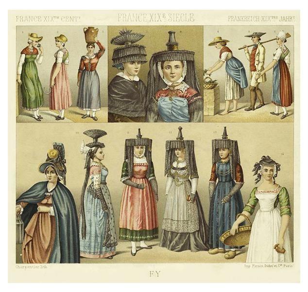 Франция исторические костюмы 13 века