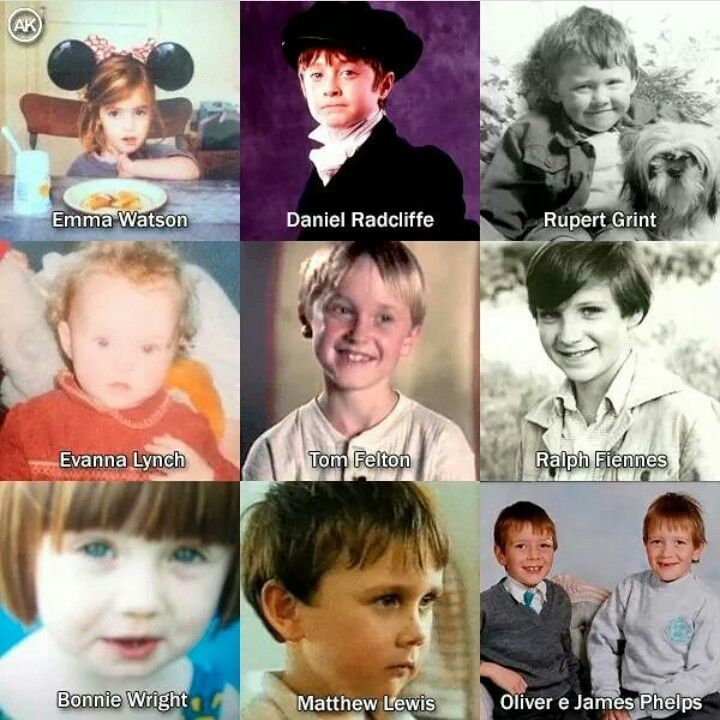 All those cute kids who were students in the films and then there's Voldemort