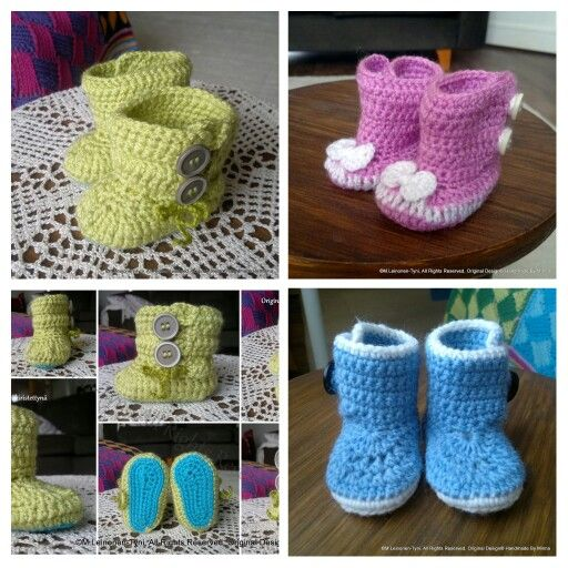 Vauvojen virkattuja Tossuja, Crochet slippers