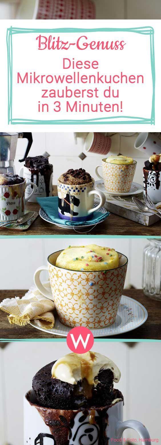 Mikrowellenkuchen: 4 Blitzrezepte für spontanen Besuch – oder sich selbst # …