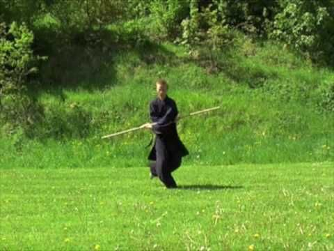 This is a great tai chi staff performance. Very smooth.