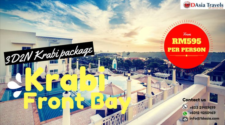 HOT SALE !!!  HONEYMOON PACKAGE 4D3N KRABI CHA DA HONEYMOON PACKAGE  ONLY FROM RM 2170 per couple !!!  TRAVELING PERIOD: 01-31 JULY 2017 BOOKING PERIOD: NOW TILL ENDS OF 31 JULY 2017  Hurry up get the full itinerary / Dont miss a chance to get the best price for honeymoon trip. We are offering promotion and HOT SALE till the ends of July.  What are waiting for?? Contact us now for booking!!  for more info, 👇 👇 👇 http://www.1dasia.com/holiday-tour-packages/Thailand/Krabi-Island