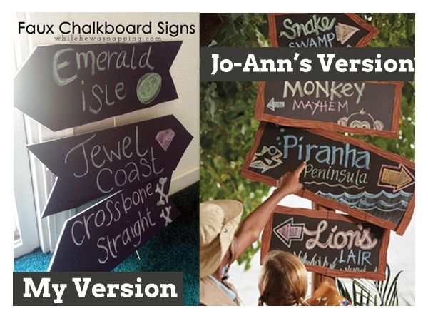 DIY Faux Chalkboard Signs. So versatile and super cheap.