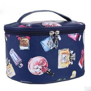 Perfume Print Makeup Bag
