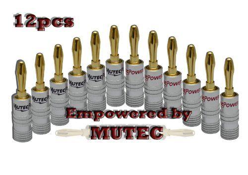 Mutec -24K vergoldet High End Bananenstecker f�r Lautsprecherkabel- 12 Stuck