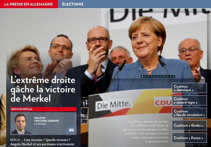 L'extrême droite gâche la victoire de Merkel - La Presse+