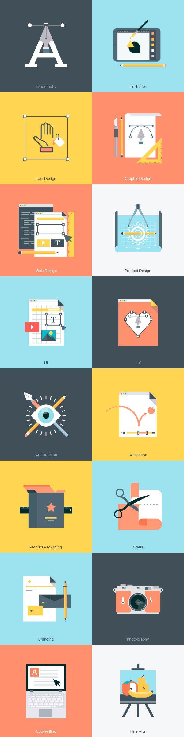 Iconos creativos con muy buen acabado y detalles