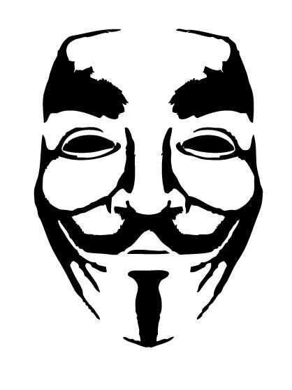 Anonymous Mask Stencil 2 Airbrush Stencils Sablony