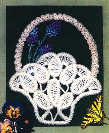 Victorian Lavender Basket Kit (Romanian point lace)  want to try this sometime