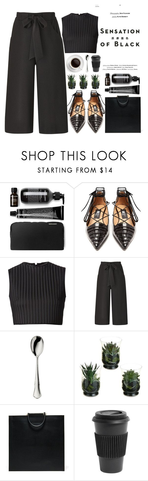 """""""SENSATION OF BLACK"""" by evangeline-lily on Polyvore featuring Vision, Rue St., David Koma, Robbe & Berking, Homage, allblackoutfit and fallwinter2018"""