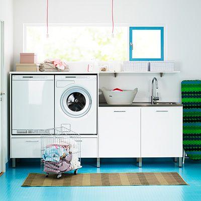 Tvätt och förvaringsmiljöer – Nytt kök badrum och tvättstuga - Vedum kök och bad AB