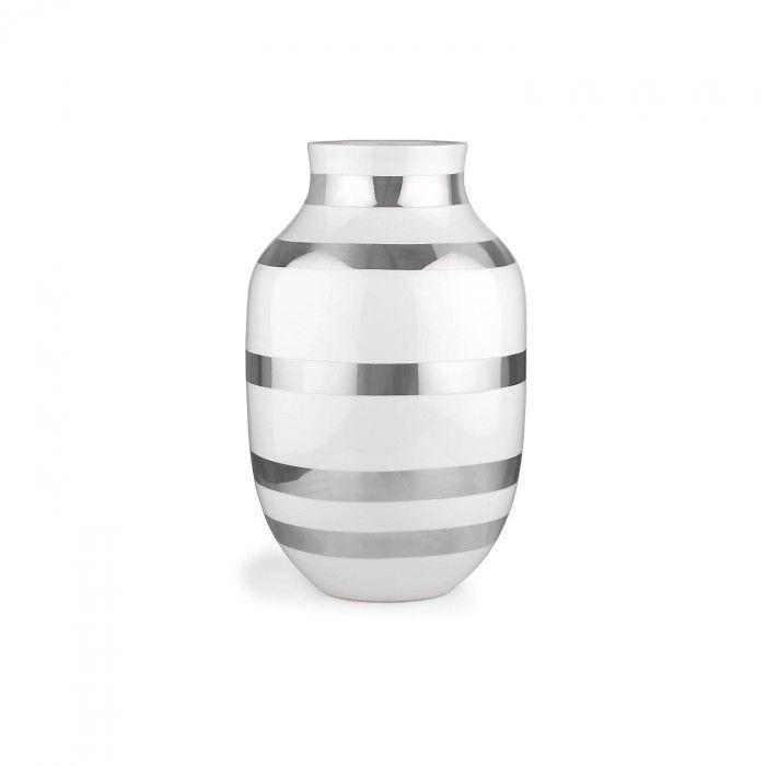 Kähler Omaggio Vase Sølv H:30,5cm