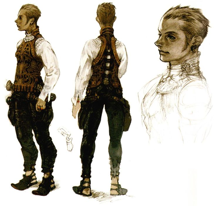 Creative Uncut updated their FF12 gallery with much bigger images of the character concept art! I love FF12 so much, and Akihiko Yoshida is one of my favorite character artists. If you're going to dress a female character in battle-lingerie, it better be as exquisitely designed as Fran's.