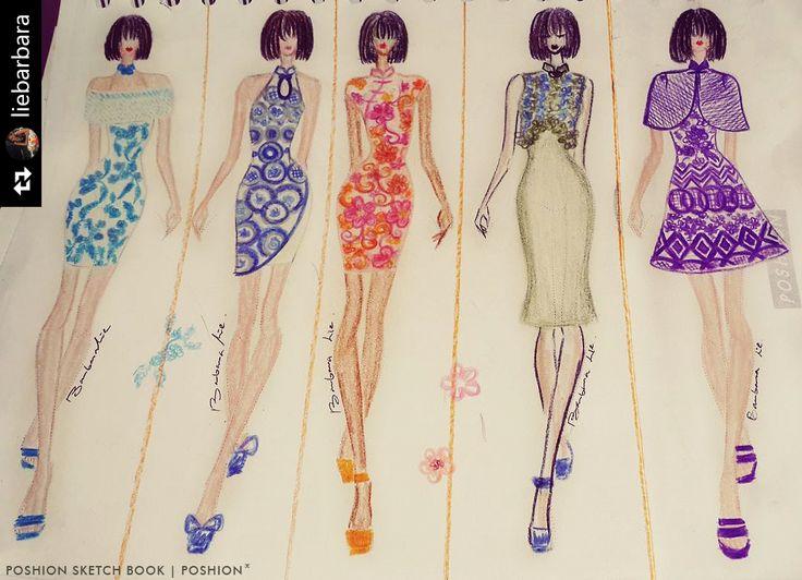 Poshion Sketch Book | #fashionillustration #sketchbook #fashionsketch #draw #croquis #learntodraw #fashionfigure #fashionstudent