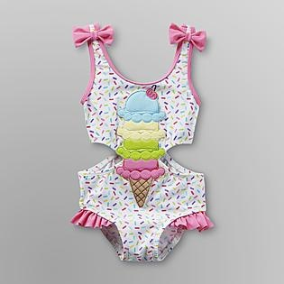 Joe Boxer- -Infant & Toddler Girl's Swimsuit - Ice Cream