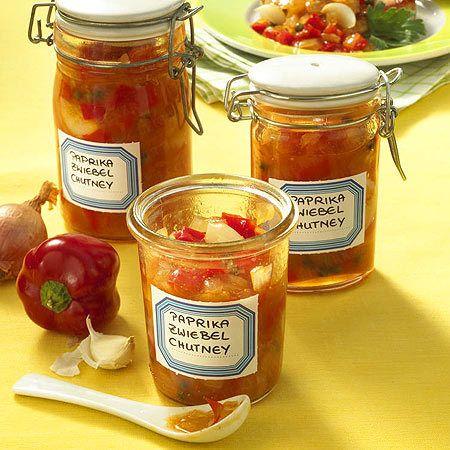 Chutney-Rezepte für aromatische Soßen - paprika-zwiebel-chutney  Rezept