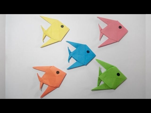 how to make paper fish craft