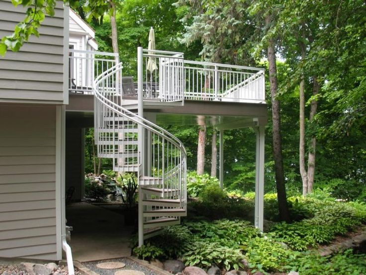 forest house with spiral staircase