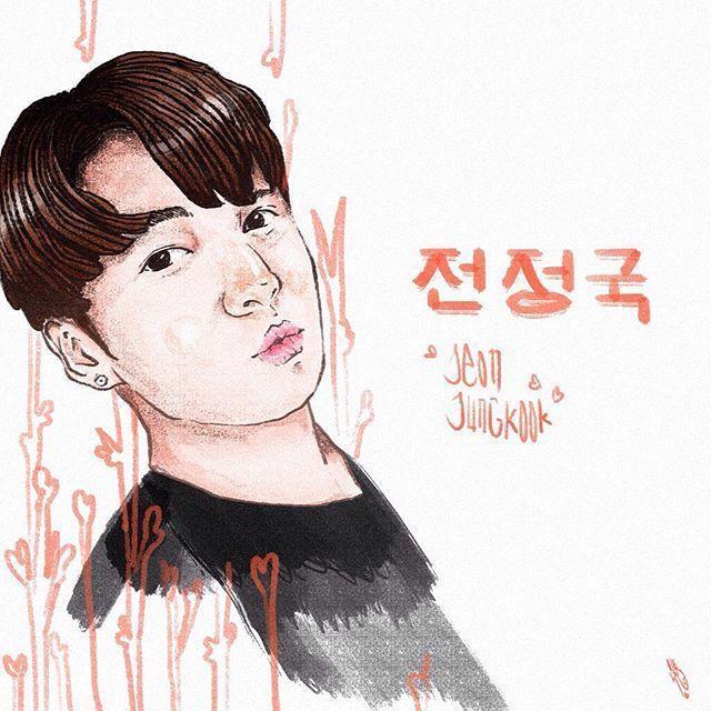 Jungkook  #Artwork #Art #May #2016 #ArtofTheDay #PortraitIllustration #Korea #Illustration #Jungkook #DigitalDrawing #Arsip120