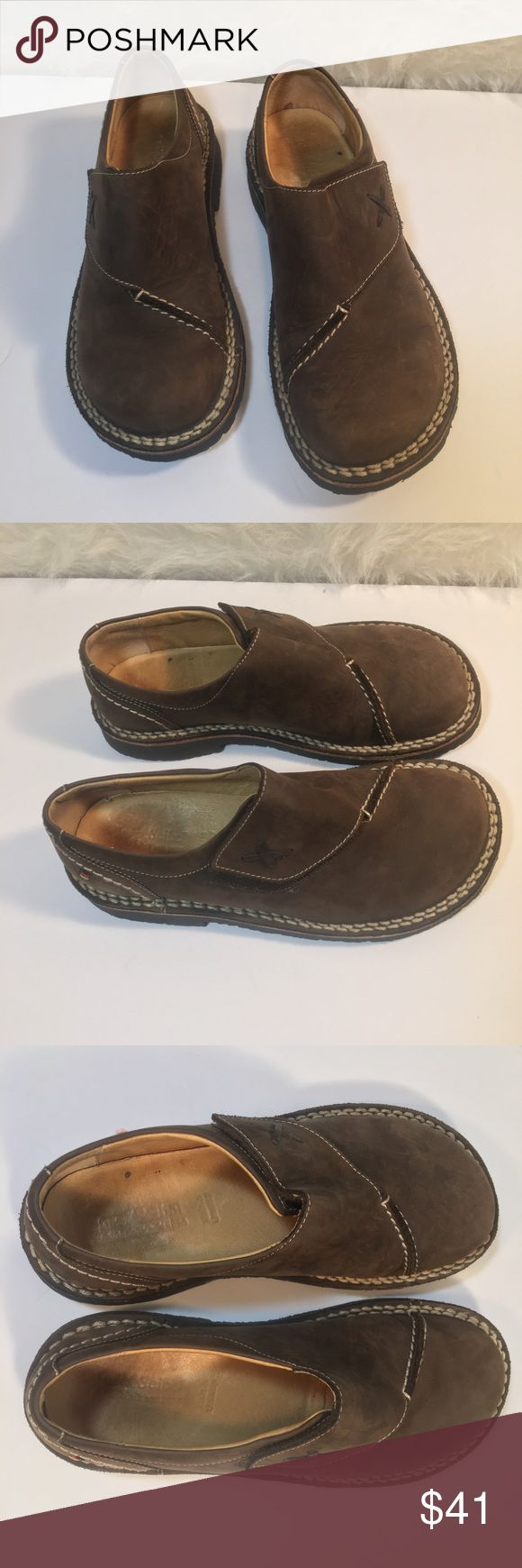 Josef Seibel Velcro loafers  slip ons 38 Josef seibel brown leather Velcro loafers  shoes size 38 Josef Seibel Shoes Flats & Loafers