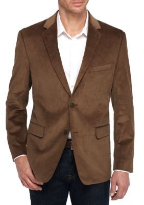 Saddlebred Men's Big And Tall Brown Cord Sports Coat - Brown - 54 Regular