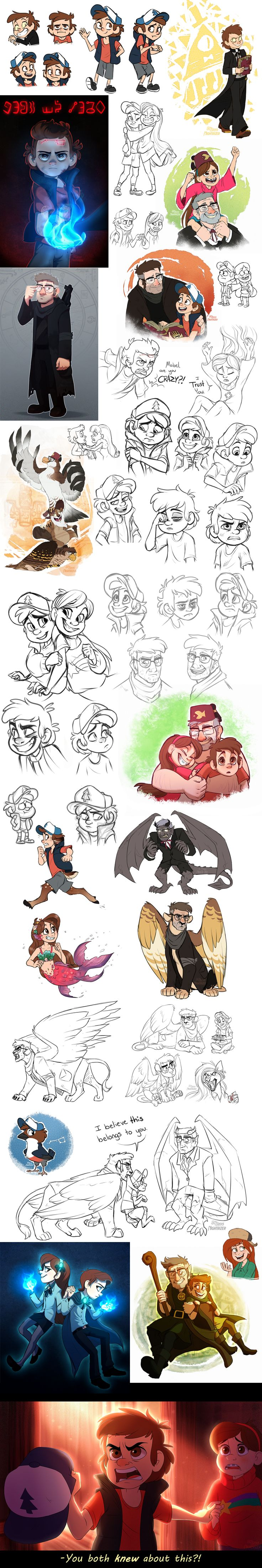 Gravity Falls Art Dump by Nightrizer.deviantart.com on @DeviantArt