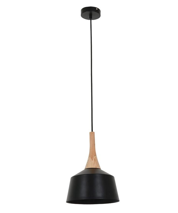 Husk 200mm Pendant in Matt Black/Ash | Pendant Lights | Lighting