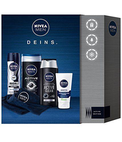 Nivea Men Active Clean Geschenkset mit Deodorant, Shampoo, Creme und Duschgel, 1er Pack (1 x 4 Stück) #Nivea #Active #Clean #Geschenkset #Deodorant, #Shampoo, #Creme #Duschgel, #Pack #Stück)