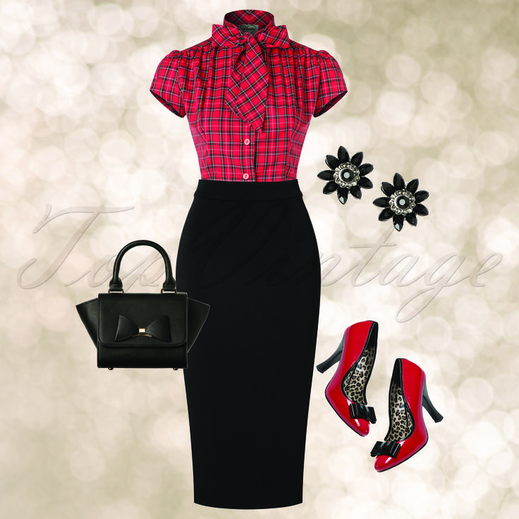 Bring out your inner sexy secretary with this look!