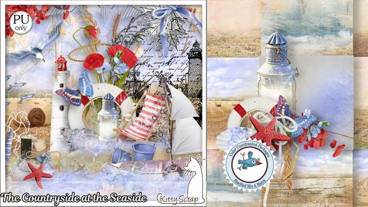 mini kit the countryside at the seaside by kittyscrap