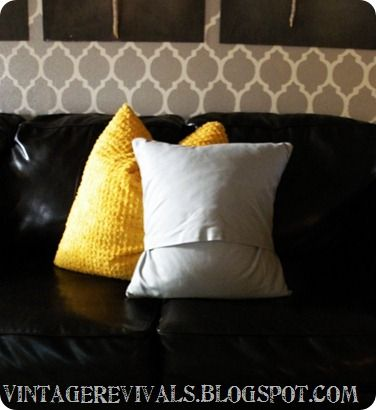 How To Make a super easy removable pillow cover. Make to size to recover old or ugly thrift or on sale discount store pillows... new inserts are expensive. See if feather pillows are available.. so nice.