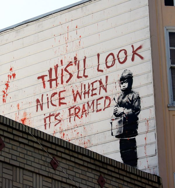 17 best images about street art on pinterest bristol for Banksy mural painted over