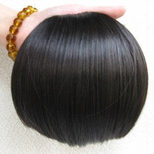 100% human hair extension clips in bang hair indian hair.free shipping four color