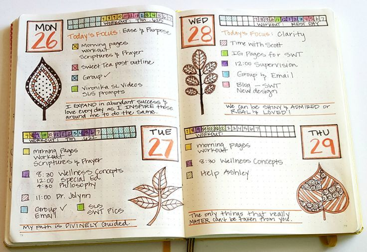 My favorite layout in my September bullet journal.