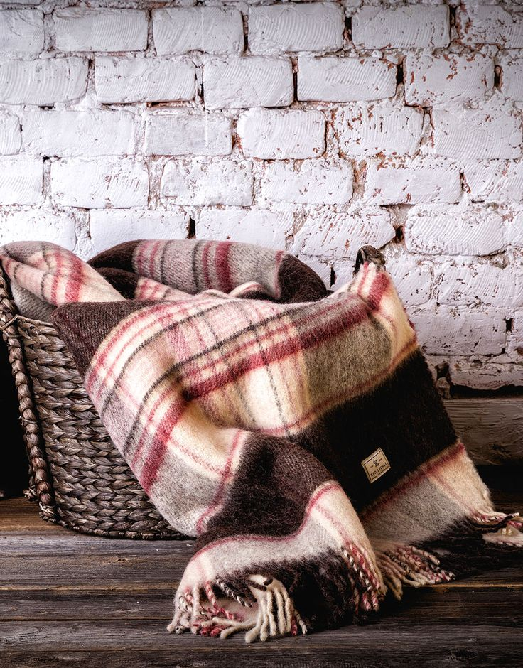 Majestic Wool Blanket. Made from top quality soft wool, warm and cosy blanket is ideal for placing over bed or sofa linen.