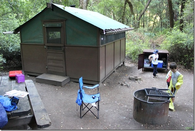 tent cabins at big basin caravans and hippy vehicles and