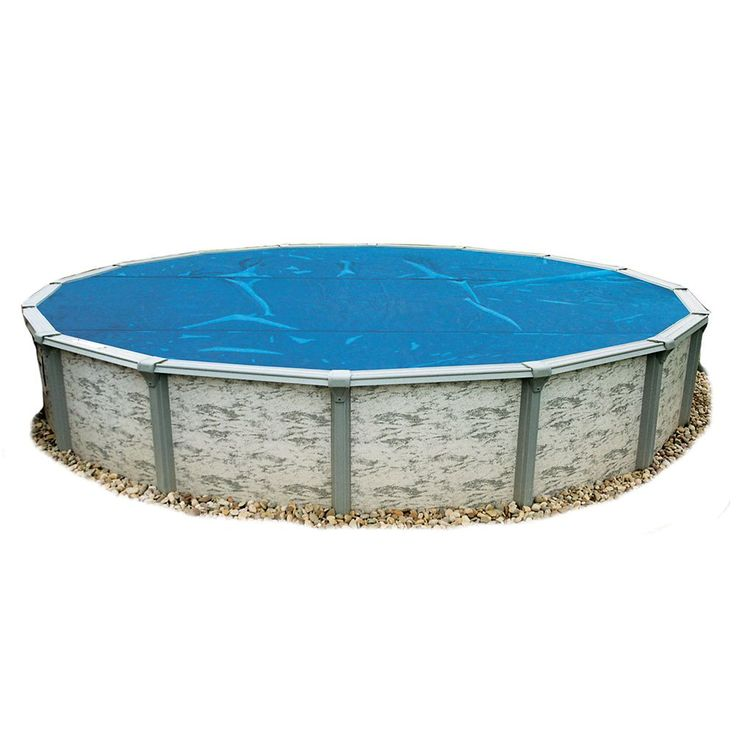 30 ft. Round 8-mil Blue Solar Blanket for Above-Ground Pools