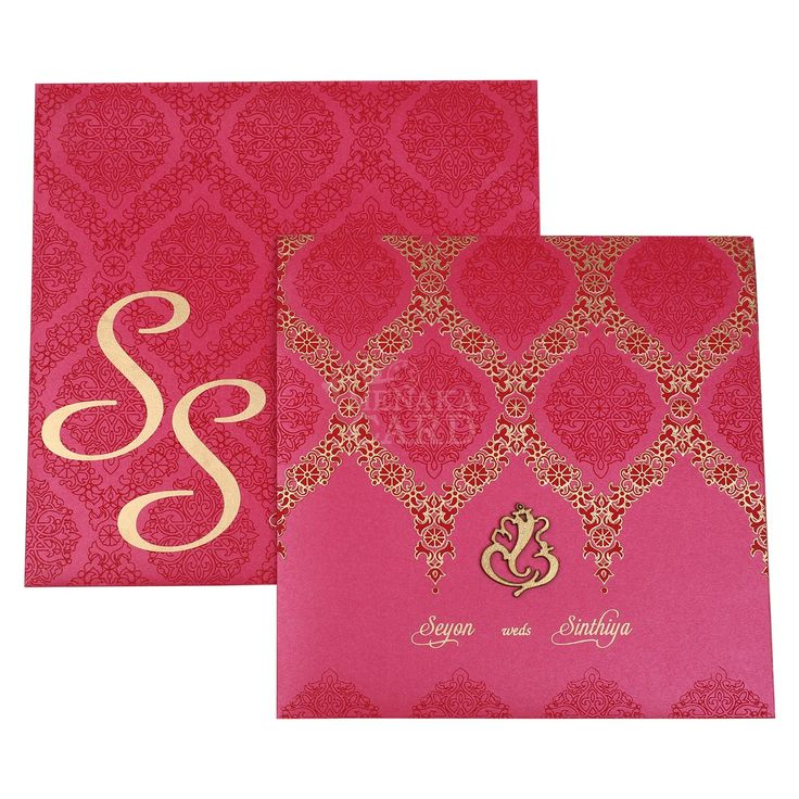 indian wedding cards wordings in hindi%0A Card is made of metallic board with diecut vinayagar sticker emboss  The