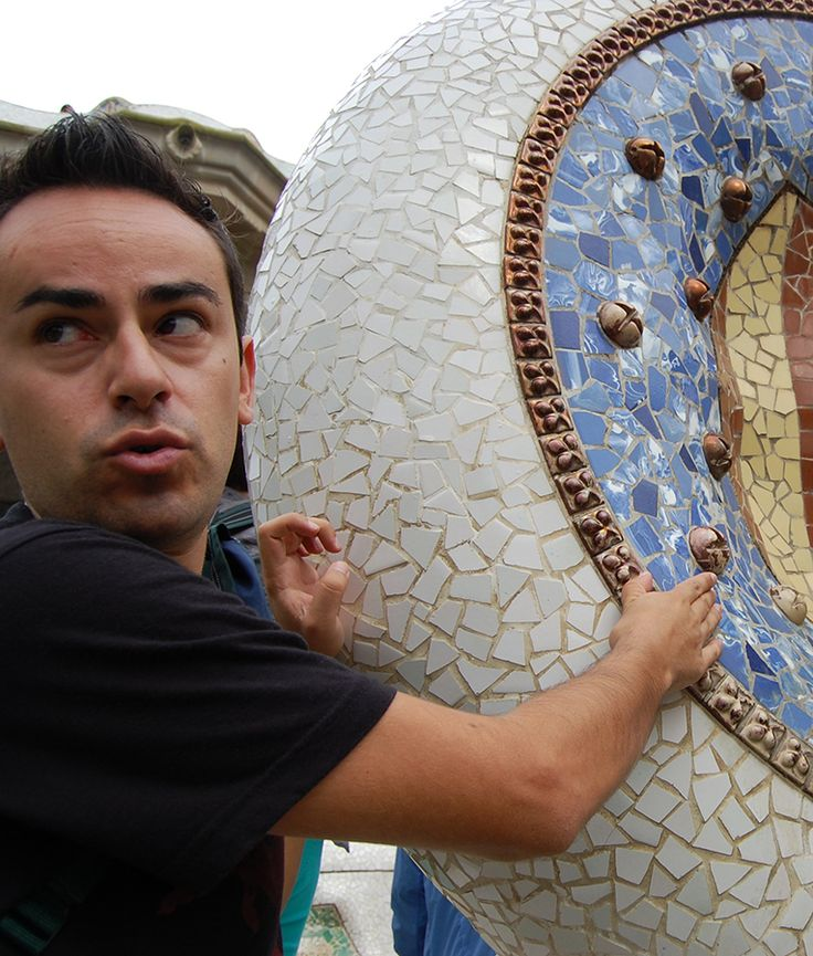 Eloi, our local connoisseur of Gaudi and his life. On a trip to Barcelona with Travelove.