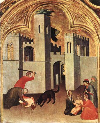 Simone Martini, Blessed Agostino Novello Altarpiece, 1324, tempera on wood (Pinacoteca Nazionale, Siena)