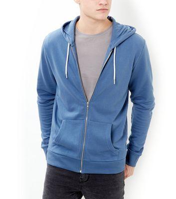 cornflower blue zip up hoodie
