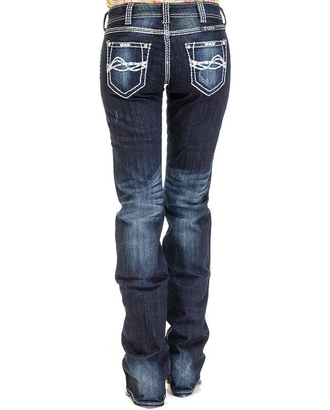 Cowgirl Tuff Dark Stonewash Jeans - Women's Jeans - Jeans