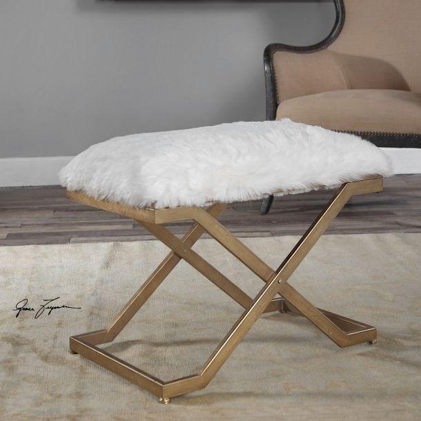 Farran Fur Small Bench | Memoky.com