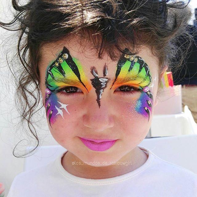 True colors #🌈 #rainbowgirlbcn #mariposa #butterfly #facepainting #bling #glitter #maquillajefantasia #maquillajeartistico #maquillajeinfantil #fiestasinfantiles #eventosinfantiles #pintacaras #pintacaritas #neon #rainbow #niños #arcoiris #barcelona #cerdanyola #ripollet
